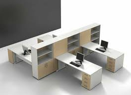 modern office furniture design. Modern Office Cubicle Layout Design : Spacious White Laminate Furniture With Open Rack N