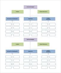 Functional Organizational Chart Template Cross Functional