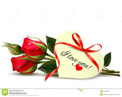 two red roses with an i love you note vector ilration