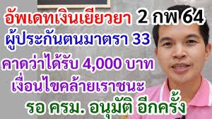 อัพเดท จ่ายเงินเยียวยาผู้ประกันตน มาตรา 33 คาดว่าจ่ายคล้ายเราชนะ 4000