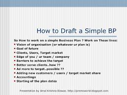 Basic Business Plan Outline Free Simple One Page Business Plan Template Template Business