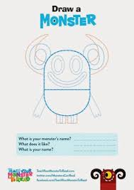 draw your own monster colouring sheet find this pin and more on usborne