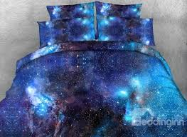 3d blue galaxy realistic style printed 4 piece bedding sets duvet covers