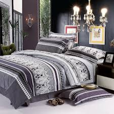 black grey and white bohemian chic paisley park and polka dots print full queen size boys bedding sets
