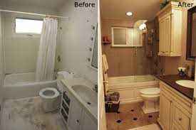 Simple Bathroom Remodels Before And After Remodel Bath Amp A To Design Inspiration