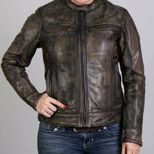 hot leathers las distressed brown leather jacket jkl1024