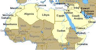 arab world arab nationalism Map Of The World Egypt map of arab world map of the world with egypt located