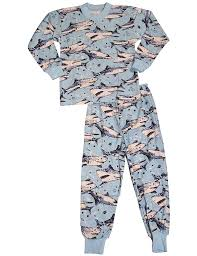 sara s prints little boys long sleeve shark pajamas light blue  sara s prints little boys long sleeve shark pajamas light blue