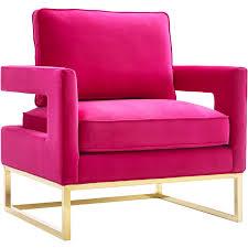 avery pink velvet arm chair on gold stainless steel legs
