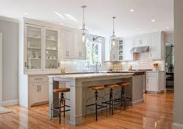 modern farmhouse kitchen design. White Kitchen With Gray Island Paint Color. The White Cabinet  Color Is Called Modern Farmhouse Design M