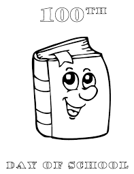 Small Picture 100th Day Of School Cartoon Book Coloring Page H M Coloring