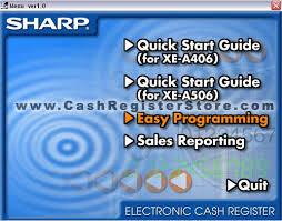 sharp xe a206. sharp xe-a206 software screenshot xe a206