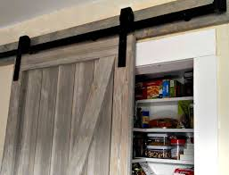 sliding barn door for our pantry