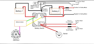 dual battery isolator wiring diagram motorhome battery wiring how to charge rv batteries in parallel at Motorhome Battery Wiring Diagram Two