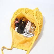 <b>Mesh</b> shopping bag with inner   Packingable