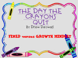 Fixed Vs Growth Mindset Chart Growth Mindset Fixed Mindset Social Skills Writing The Day The Crayons Quit