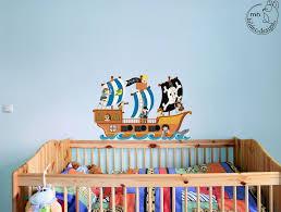 Wandtattoo Piratenschiff Kinderzimmer Junge Pirat Von MHBilder Design Auf  DaWanda.com