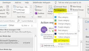 Create Outlook Office 365 Create Custom Outlook Categories To Organize
