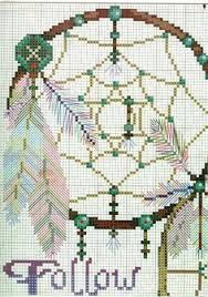 Dream Catcher Point Dreamcatcher cross stitch chart Cross stitch charts Cross 88
