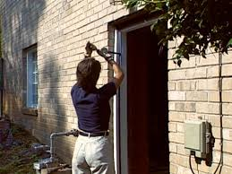 how to install a pre hung exterior door