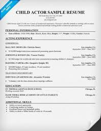 Acting Resume Examples New Child Actor Sample Resume Child Actor Sample Resume Are Examples