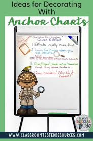 Chart Decoration Ideas For School Ideas For Decorating With Anchor Charts Classroom Tested
