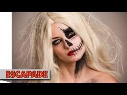 half skull face makeup tutorial makeup ideas 47beauty