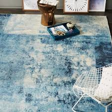 distressed rococo wool rug blue lagoon west elm west elm outdoor rug