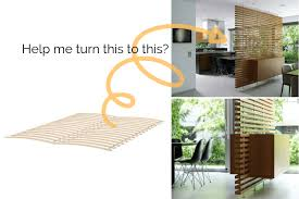 how to this wood slat room divider