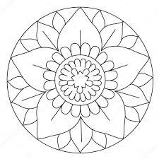 Più Adatto Per I Bambini Mandala Semplici Da Colorare Disegni Da