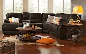 Sectional Living Room Set Rialto Onyx Leather Sectional Living Room Set Tufted Seat Backs