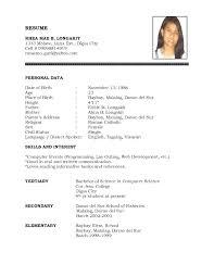 Resume Bio Example Cool Resume Bio Template Resume Bio Template Resume Bio Data Resume Bio