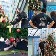 office holiday decorations. Ambius Holiday Install Team Office Decorations T