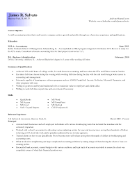 Entry Level Accounting Resume Objective Resume Online Builder