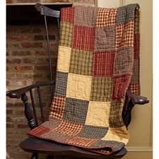 Best 25+ Primitive quilts ideas on Pinterest | Quilting, Country ... & New Primitive Country Homespun REBECCA'S PATCHWORK Quilt Blanket Throw Adamdwight.com