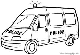 Small Picture Big Police Car Coloring Pages Printable