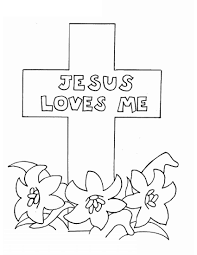 Jesus Color Pages Jesus Loves Me