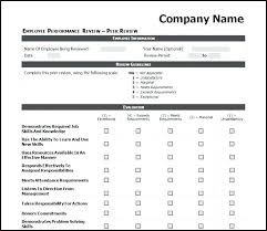 Sample Employee Performance Review Form Sheet Self – Stiropor Idea