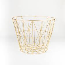 ferm living wire basket small. ferm living kids small brass wire basket living