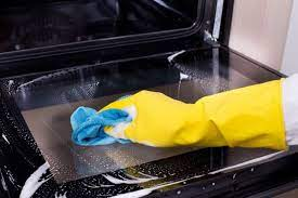 how to clean a glass oven door merry maids