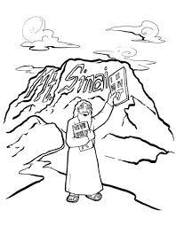 10 Commandments Coloring Page Childrens Ministry Deals