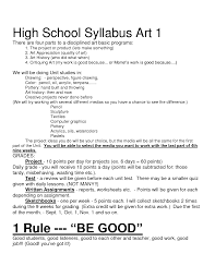 middle school art syllabus template. syllabus template high school