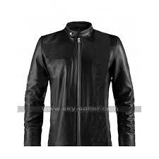 john krasinski jack ryan black biker jacket