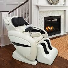 body massage chair. HOMCOM Electric Full Body Massage Chair Recliner, Zero Gravity-Cream E