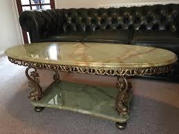green onyx coffee table