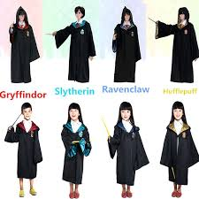 harry potter gryffindor robe cloak kid costume cape tie cos outfit glasses diy