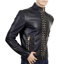 versace mens studded jacket vers2582
