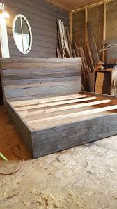 the mice grey weathered reclaimed barn wood bed by thelakenest