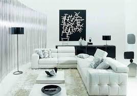 White Leather Chairs For Living Room Contemporary White Living Room Design With White Leather Sectional