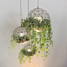 Ceiling Light With Plant Geodesic Terrarium Pendant Light By Atelier Schroeter In
